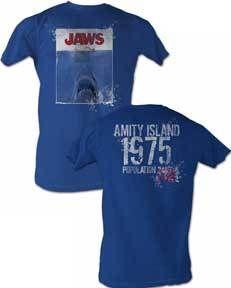 Jaws Vintage Poster Mens Tee Shirt