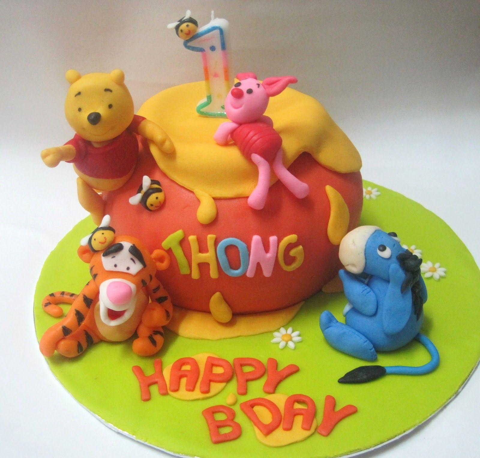 Cakes 3d winnie the pooh friends hunny pot fondant