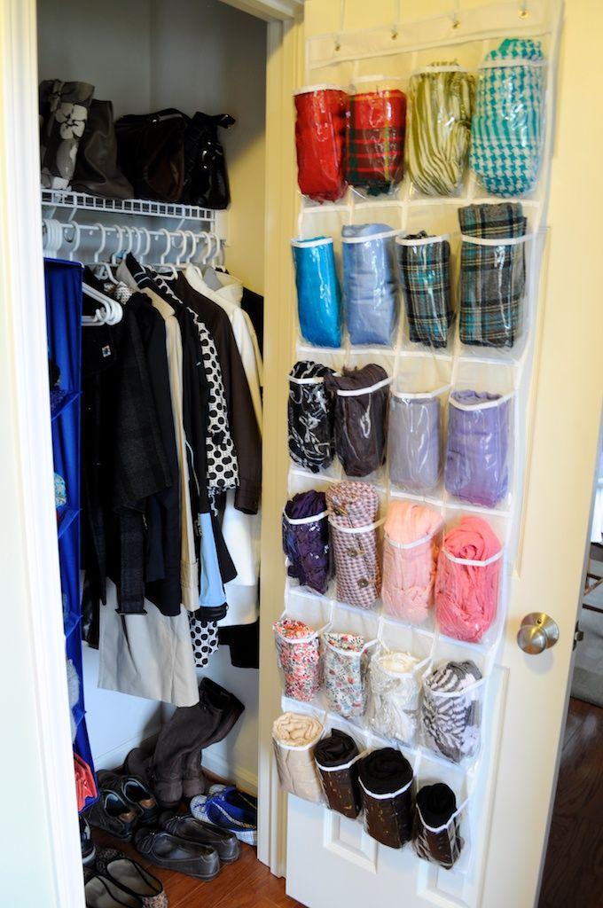 Organize Me Hall Coat Closet Scarf Storage Scarf