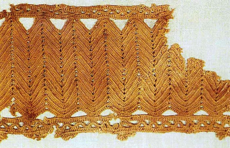 3000 year old Egyptian textile! | precious artifacts:metals