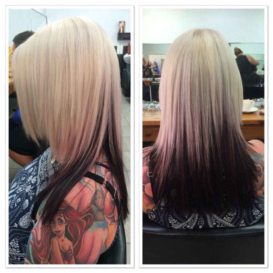 Amazing Blonde With Dark Underneath Hair By Aj Hair