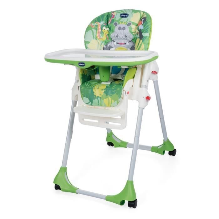 Chicco Chaise Haute Polly Easy 4 Roues Happy Jungle Baby Furniture Chicco Chaise