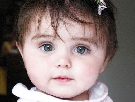 Blue Eyed And Brown Haired Cute Baby Girl Just Like My Baby Girl