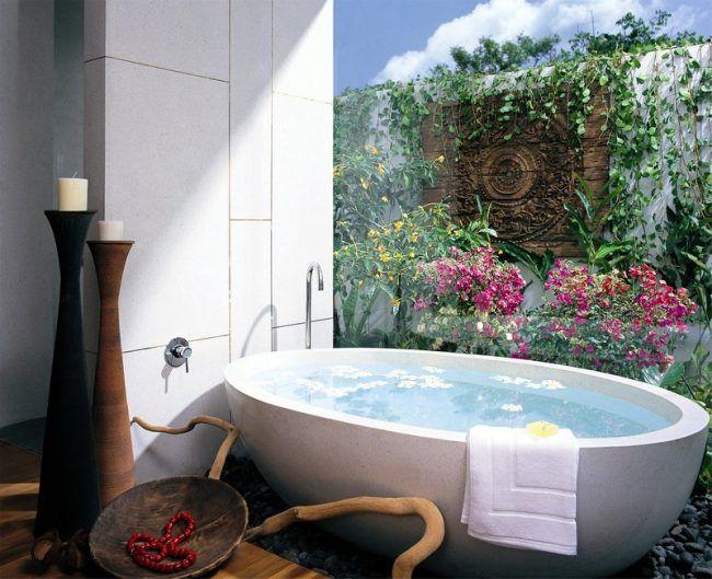Badezimmer Ideen für kleine Bäder - Fototapete als Wanddeko - fototapete f r badezimmer