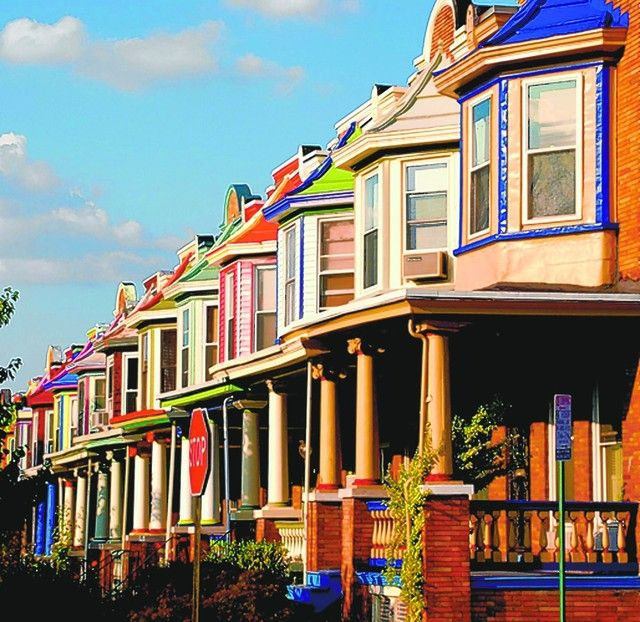The Painted Ladies Of Charles Village Baltimore City Md