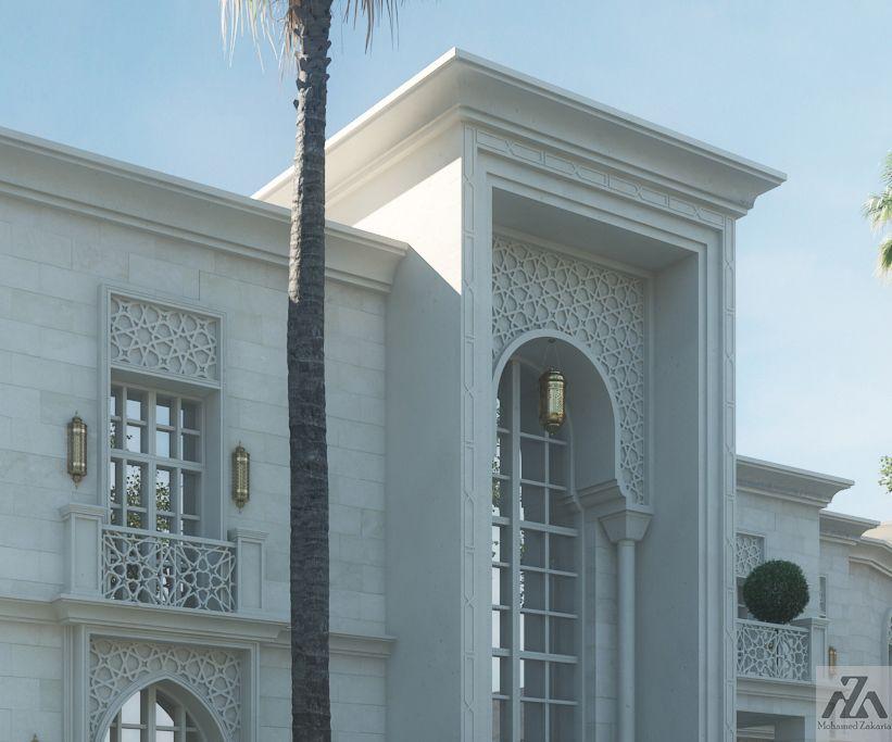 Arabic Villa On Behance House Outside Design Architecture House Exterior Design