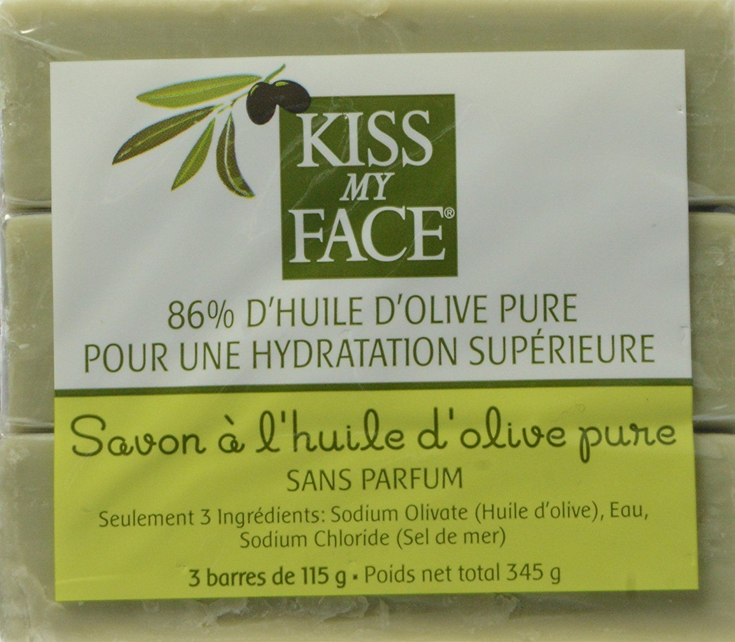 Amazon.com : Kiss My Face Naked Pure Olive Oil Soap
