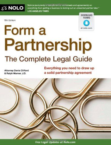 Form a Partnership The Complete Legal Guide Download the ebook
