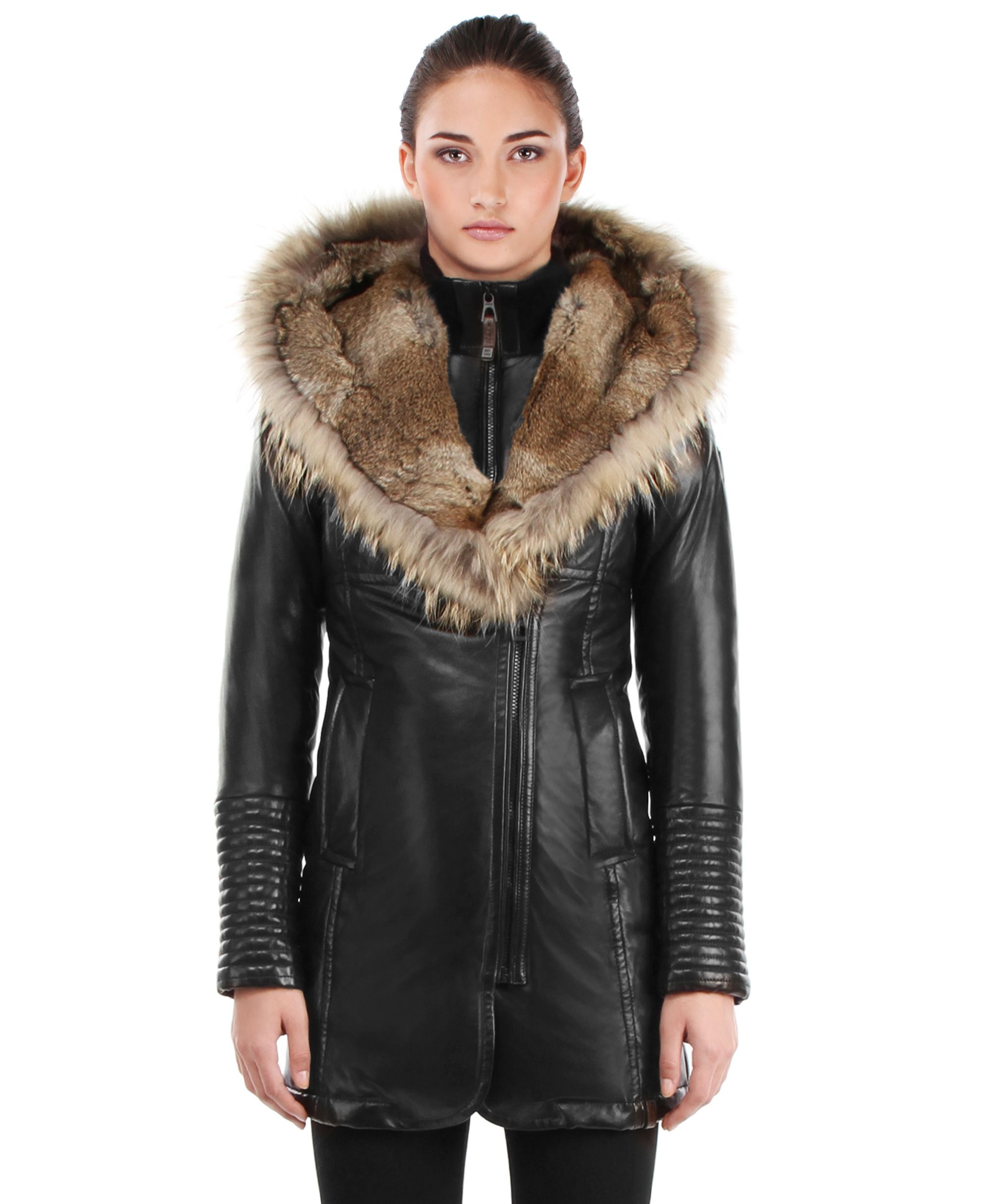 1aca68b7d26 RUDSAK OUTERWEAR (BLACK / NATURAL, GENUINE LAMB LEATHER) | ADELYNA ...