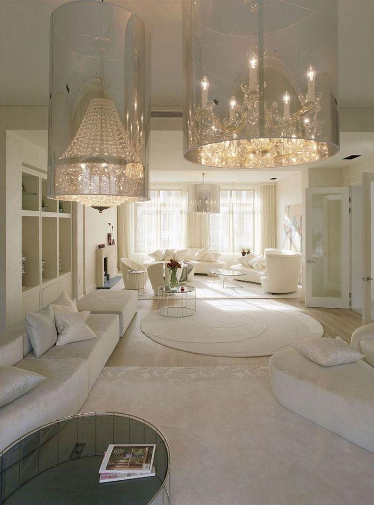glamorous homes   Interior, Glamorous White Home Design