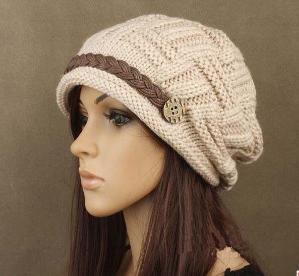 El envío libre, 1pcs , mujer orejeras tejer sombrero, invierno de ...