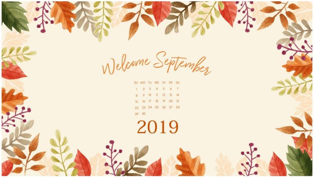 September 2019 Desktop Wallpaper Calendar Wallpaper September Wallpaper Desktop Wallpaper Calendar