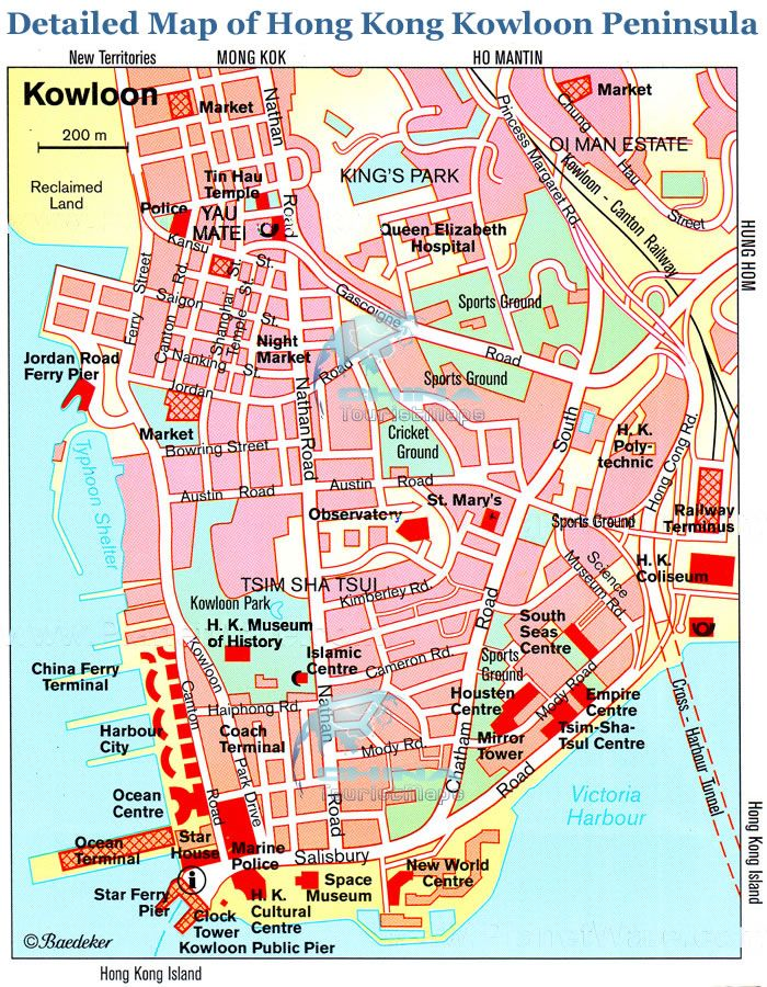 Map of Kowloon Hong Kong Pinterest City