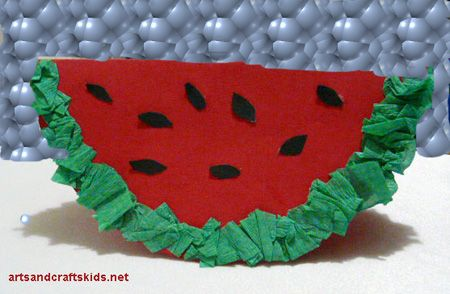 Watermelon paper crafts for kids
