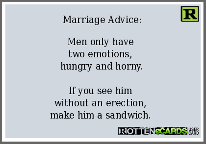 Funny Marriage Advice For Men