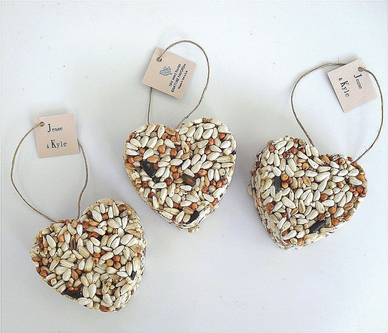 50 Heart Bird Seed Favor - wedding favors, custom favor tags ...