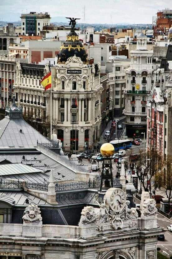 Madrid Vista Desde El Palacio De Cibeles Madrid Voyage
