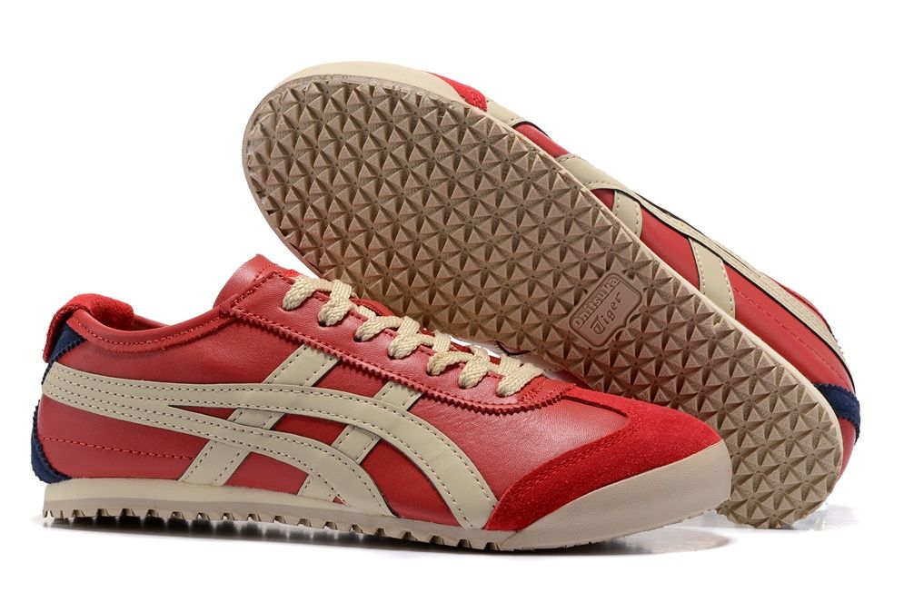 Onitsuka Tiger Red Beige Shoes | Cheap