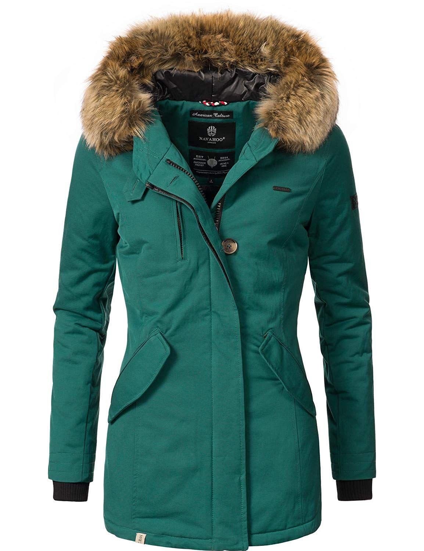 Navahoo Damen Winterjacke Wintermantel Nisam 10 Farben XS