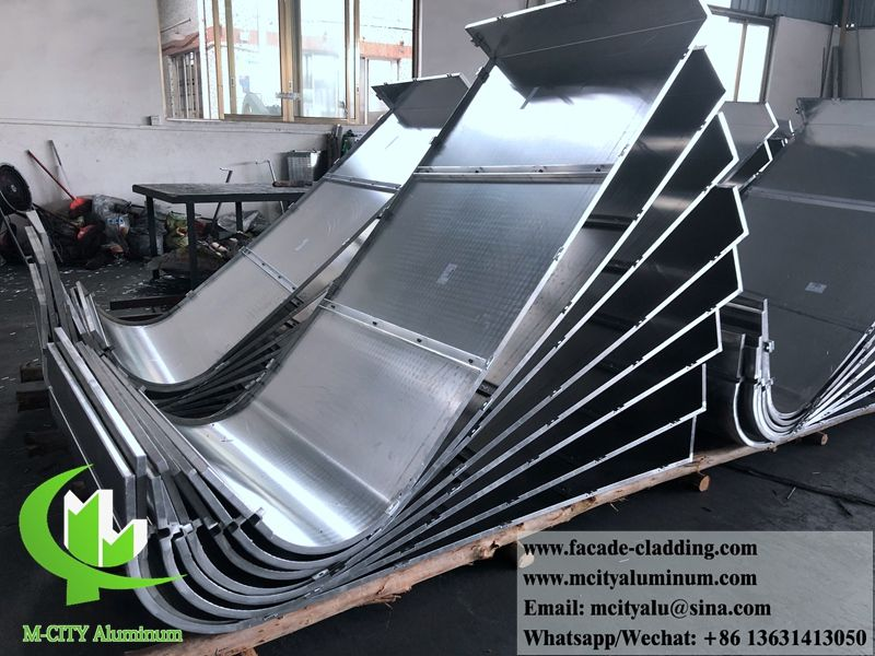 Curved Roll Bending Metal Facade Aluminum Cladding Supplied By M City Aluminum Is The Manufacturer Of Metal Clad Aluminium Cladding Cladding Facade Cladding