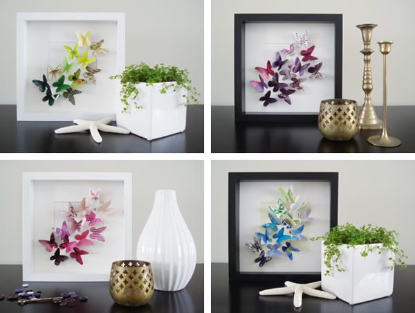 DIY : le cadre papillons du printemps | Butterfly art, Butterfly and ...