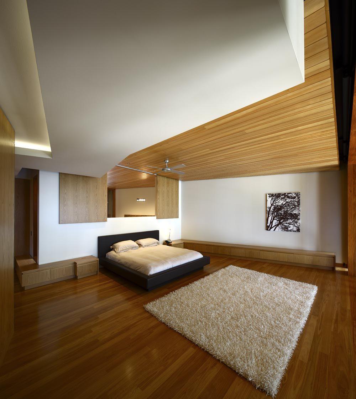 Arbour house richard kirk architect always - Techos de madera interiores ...