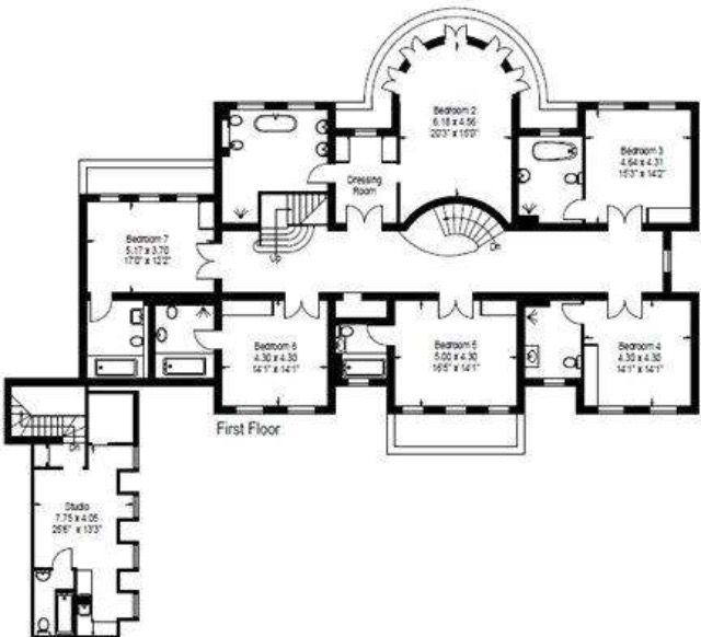 First Floor Camp End Rd St Georges Hill Surrey Modern Floor Plans Architectural Floor Plans Old Southern Homes