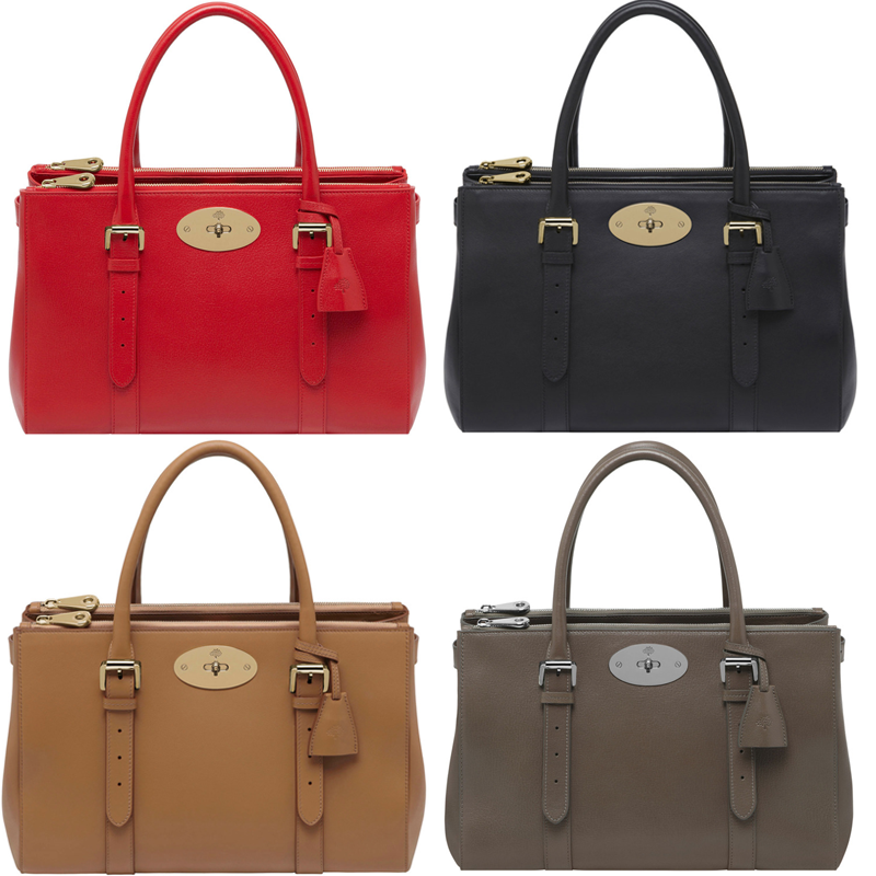 83081d7f0557 ... shopping mulberry bayswater double zipped tote 17674 57e81