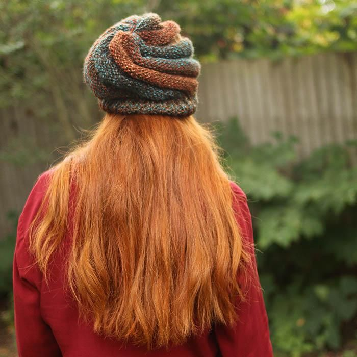 Slouchy Swirl Hat Knitting Pattern | Knitting Projects ...