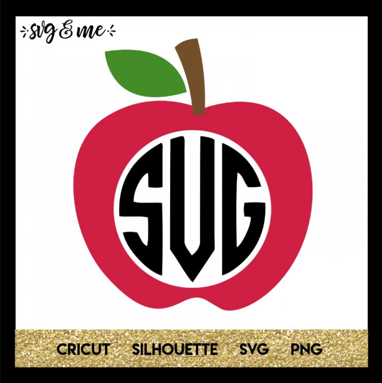 Apple Teacher Monogram Monogram svg, Teacher apple, Monogram