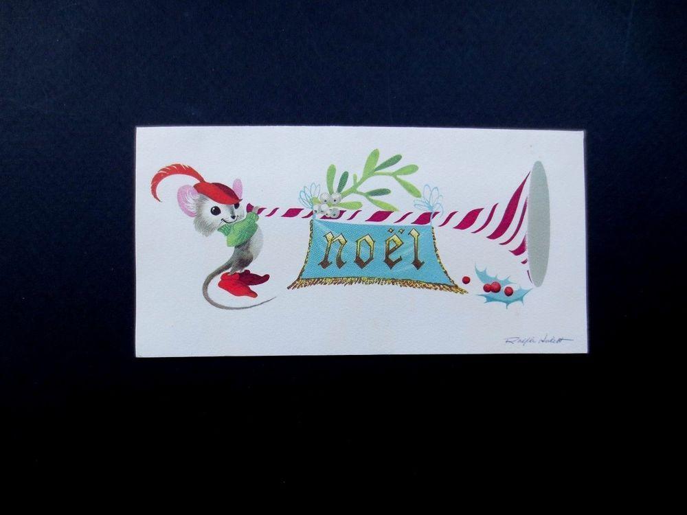 Disney artist ralph hulett christmas greeting card cutest mouse with disney artist ralph hulett christmas greeting card cutest mouse with trumpet m4hsunfo