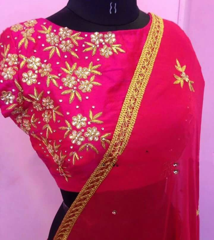 Pin by Lilysha Rani on heavy maggam work blouses | Pinterest ...