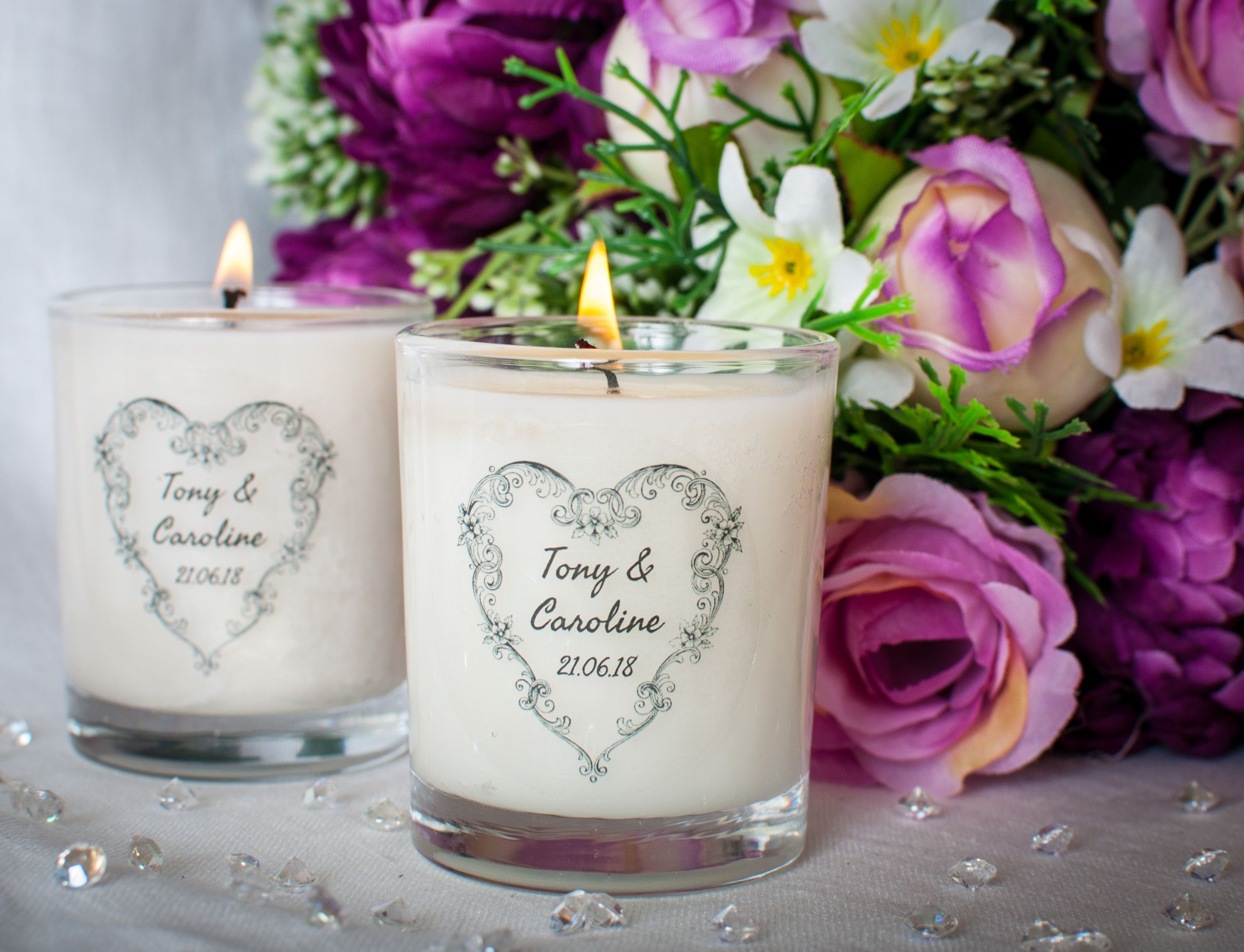 Personalised Scented Candle Wedding Favours - Best Candle 2018