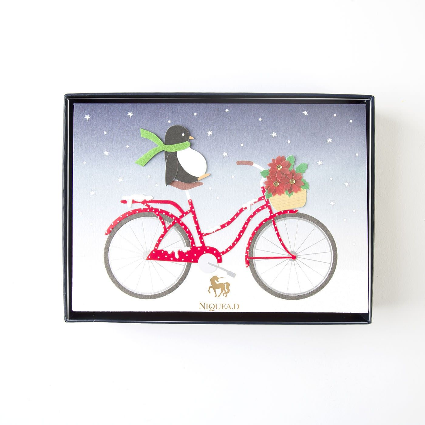 Poinsettia Bicycle Boxed Holiday Cards (Set of 8) | Holiday ...