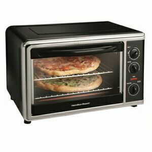 Convection toaster oven, full pizza