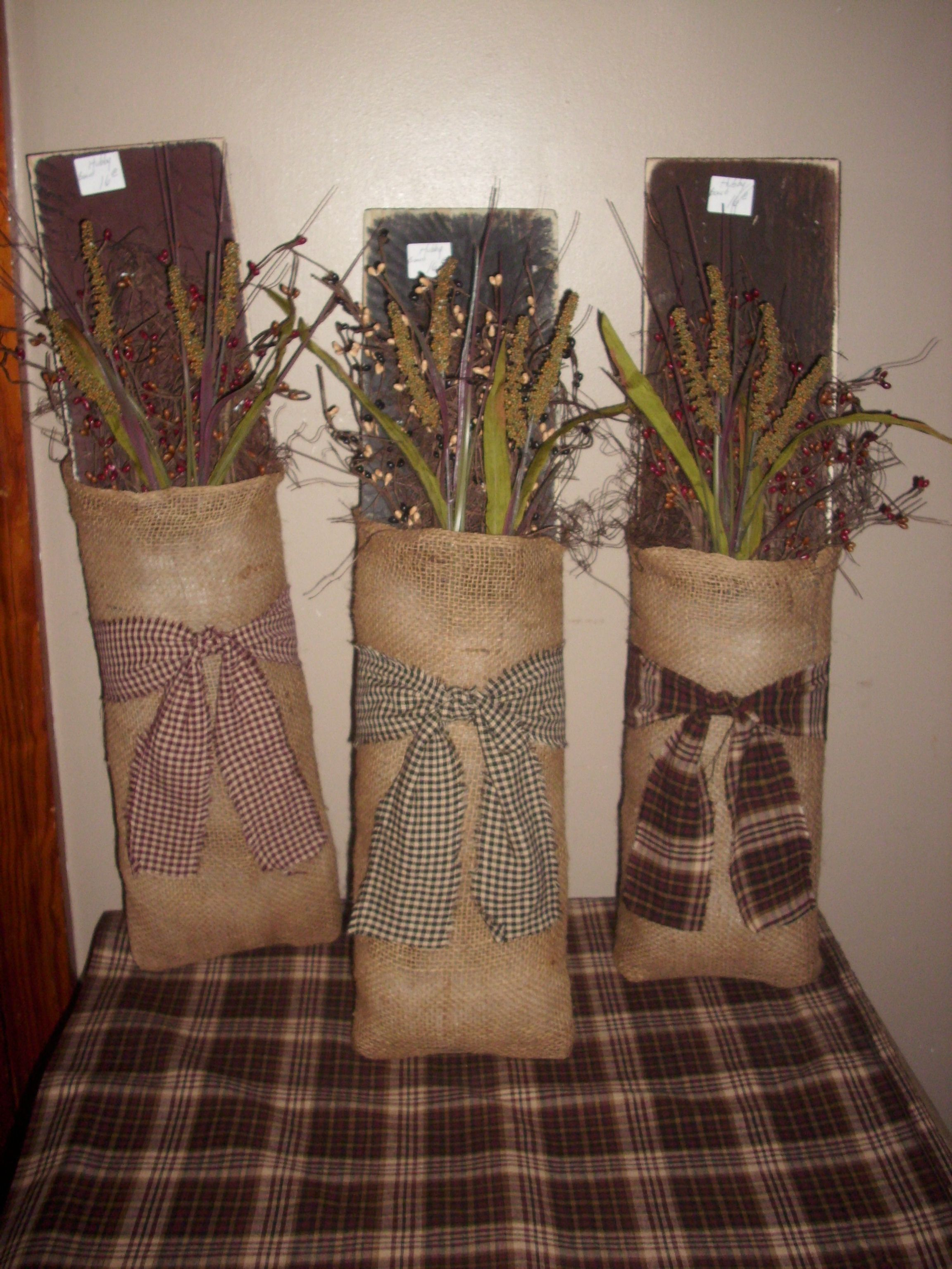 Burlap Boards...make a little LESS country and more ...