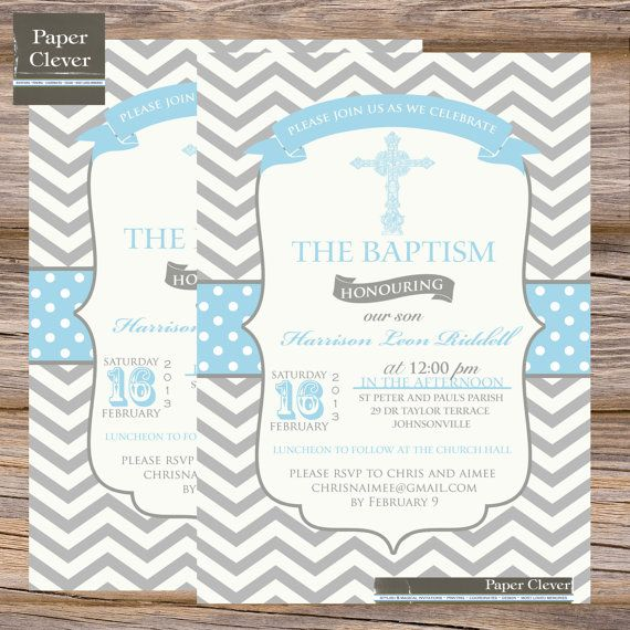 Boys baptism invitation chevron stripe blue grey by paperclever boys baptism invitation chevron stripe blue grey by paperclever stopboris Choice Image