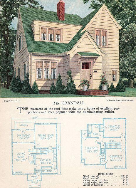 1928 Home Builders Catalog The Crandall Home Design Floor Plans American Home Design Floor Plan Design