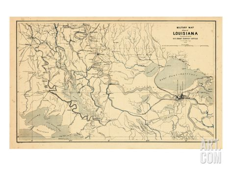 United States Map New Orleans.1863 New Orleans Louisiana Military Map Louisiana United States
