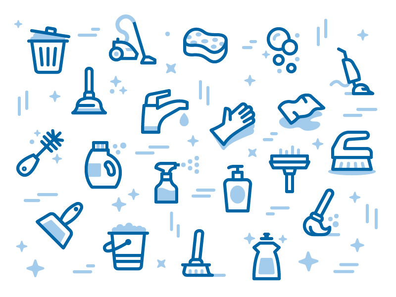 Maidpro Icon Pattern Icon Design Inspiration Best Icons Cleaning Icons
