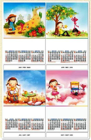 Desain Kalender Triwulan - Guru Paud