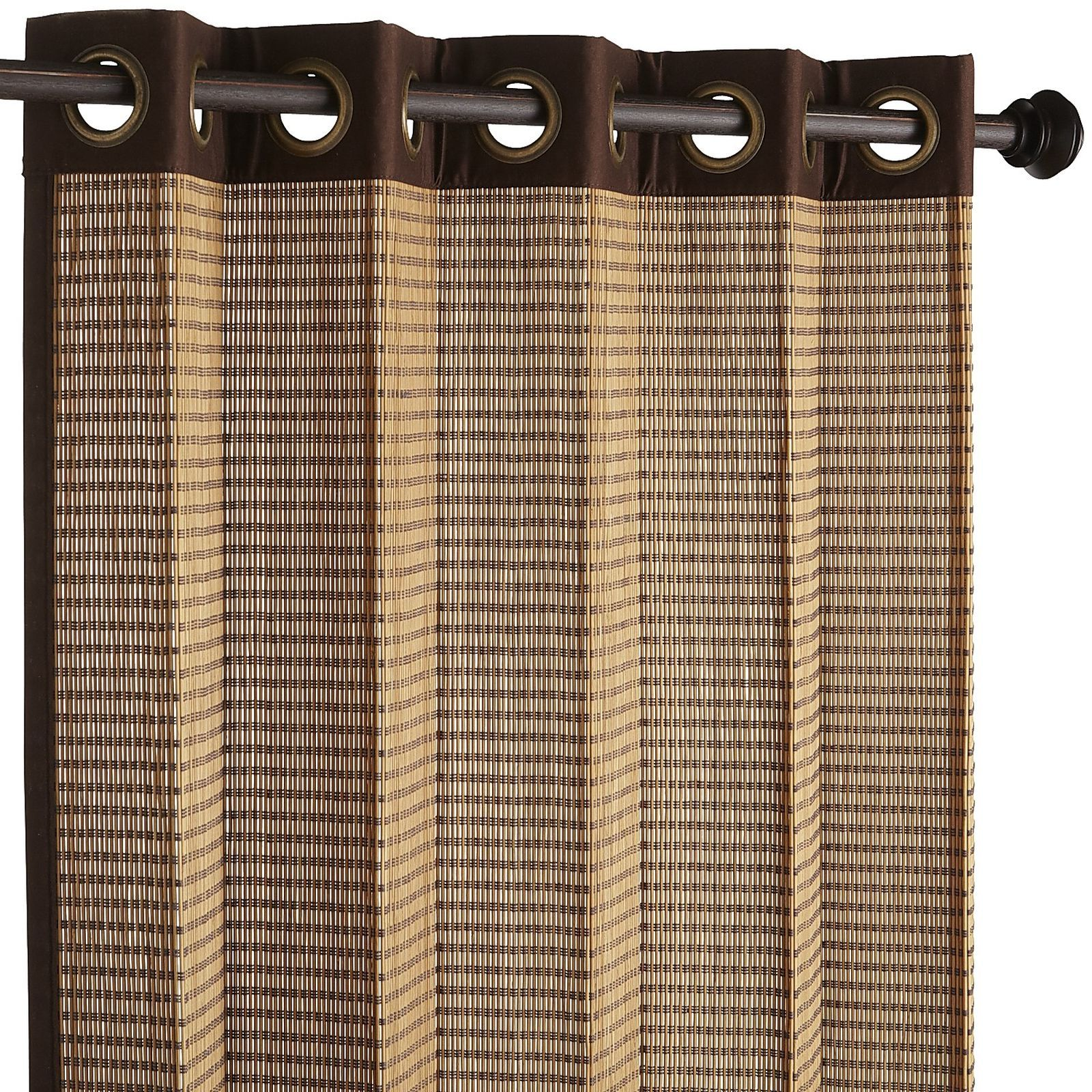 Bamboo Dark Brown Grommet Panel