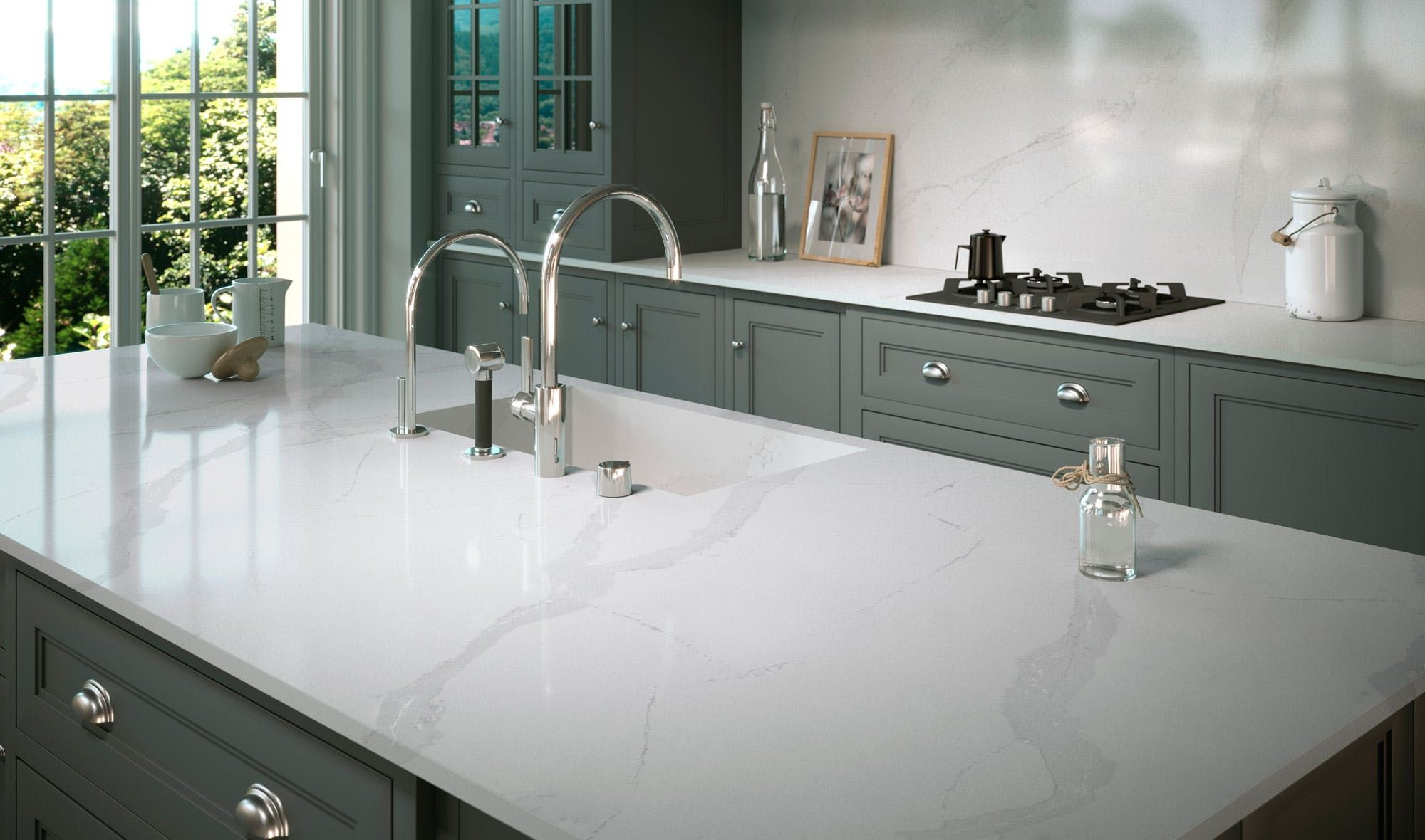 Best Silestone Kitchen Calacatta Classic Countertop Design 640 x 480