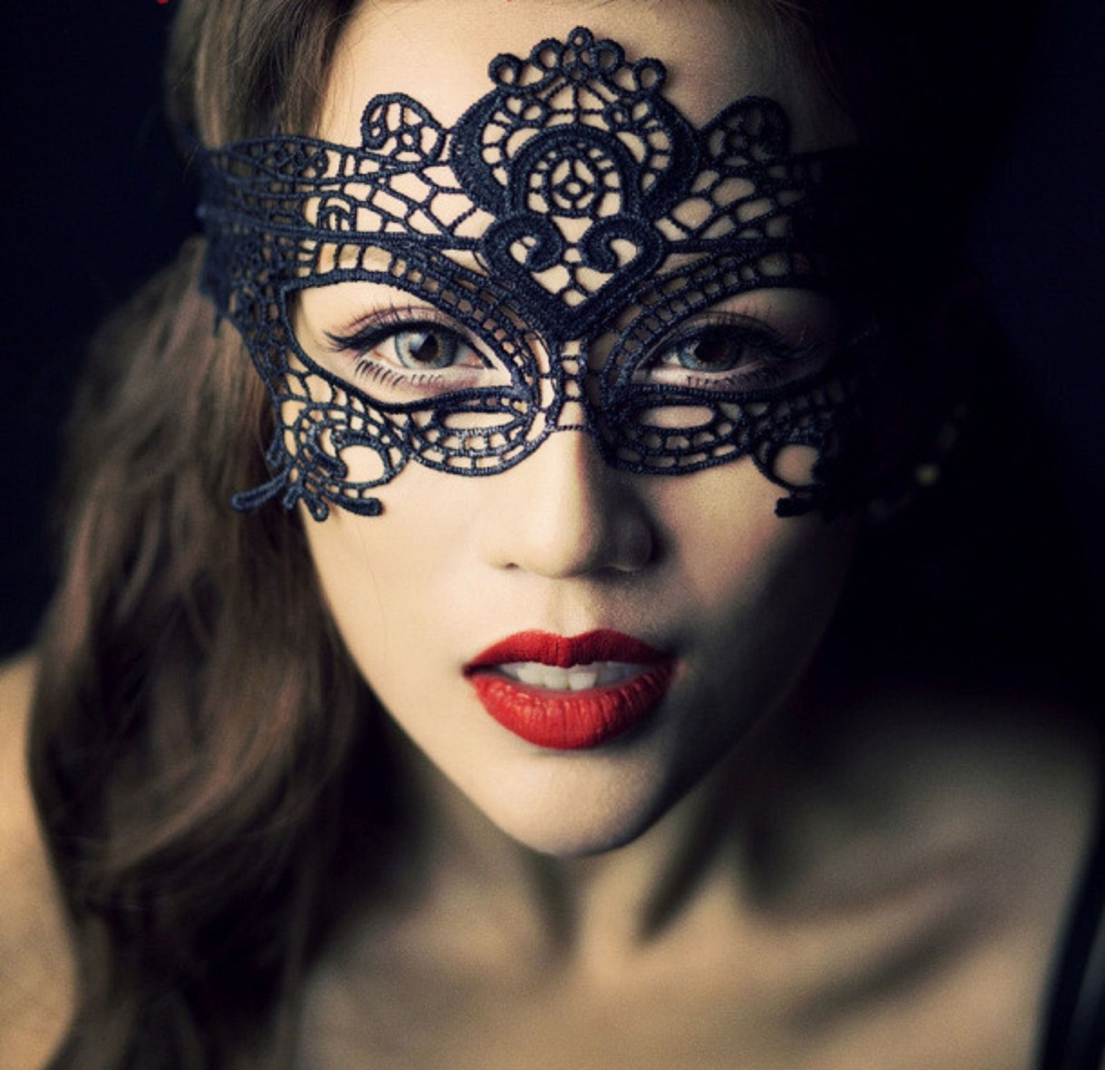 black sexy women victorian halloween costume party masquerade mask - Halloween Costumes With A Masquerade Mask