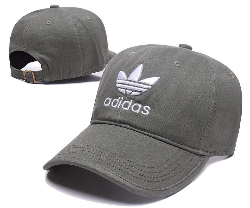 Men s   Women s Adidas Originals Trefoil Logo Embroidery Adjustable  Baseball Hat - Olive   White a89dd2359af4