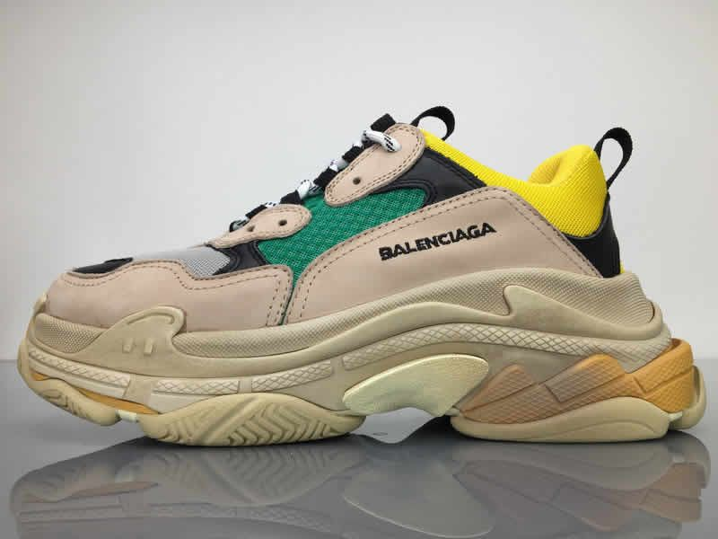 a9aea7a118a Balenciaga Triple S Beige Green Yellow - Cheap Balenciaga Shoes Sale ...