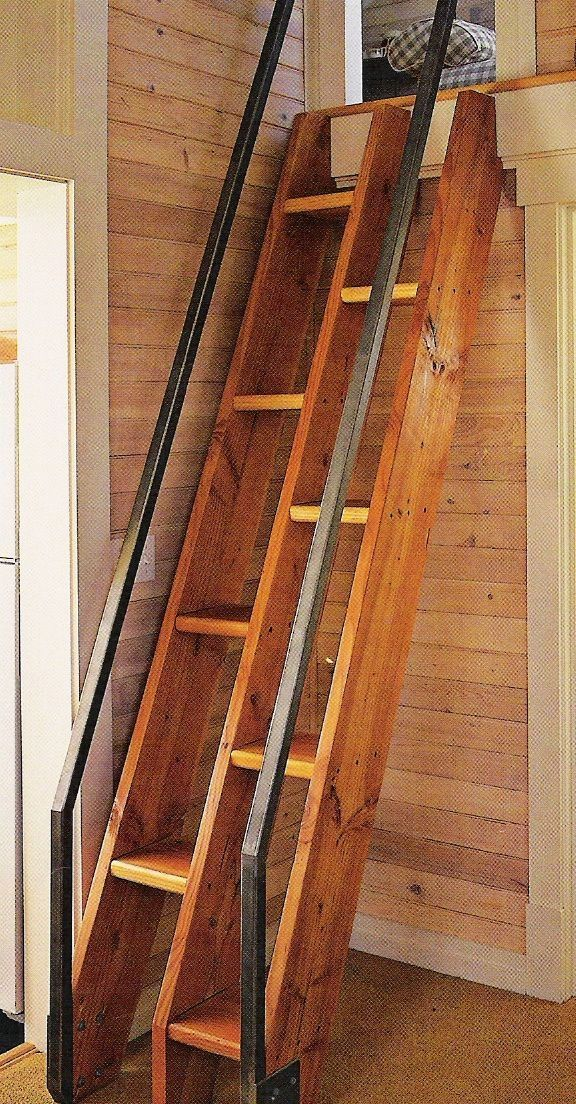 Lovely Tiny House Stair Options | Tiny House Of Style. Iu0027d Put Storage Cubbies In  The Top Half Of Each Step.
