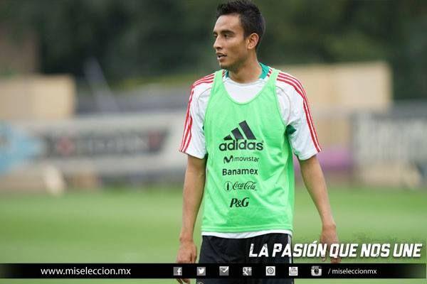 Jesús Zavala durante el entrenamiento de la Selección Mayor