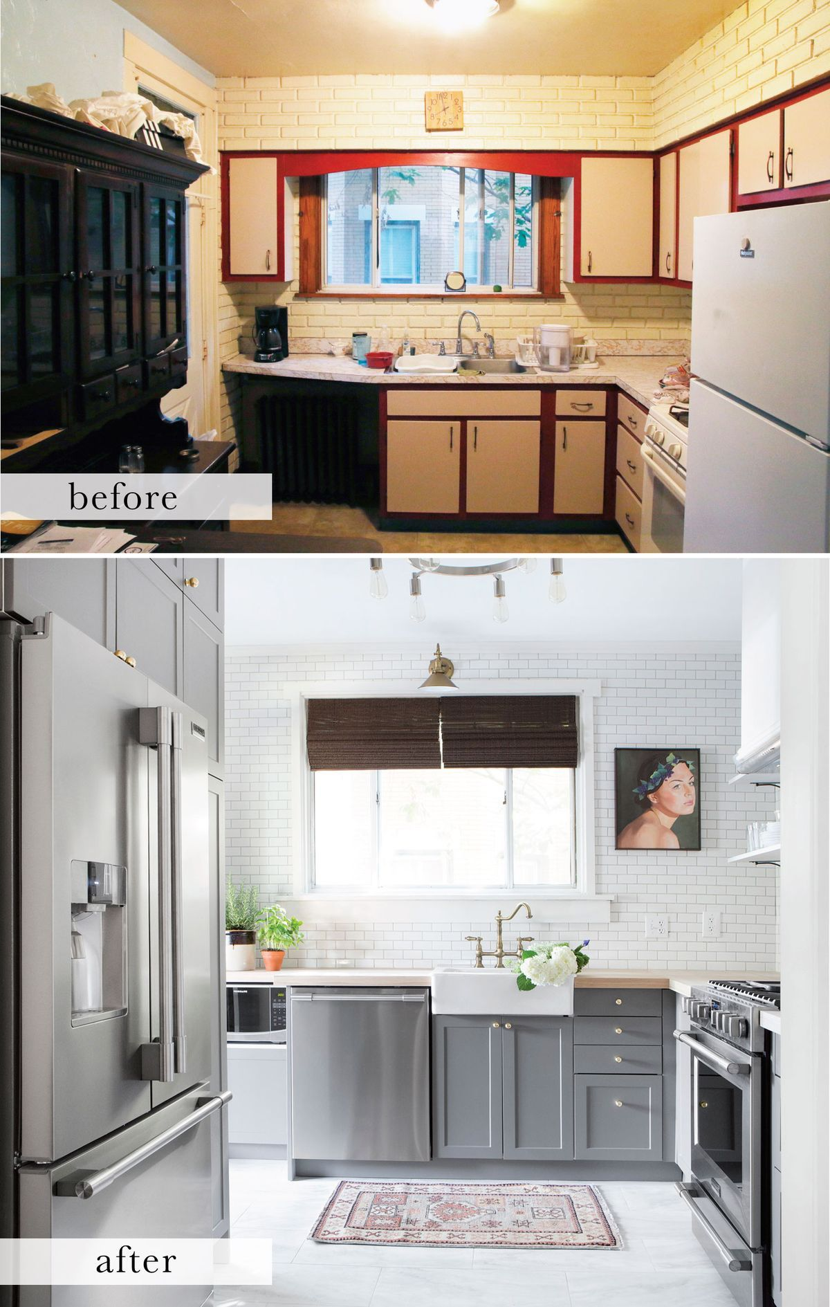Kitchen Remodeling Pittsburgh Tin Backsplash For Before And After A Small Gets