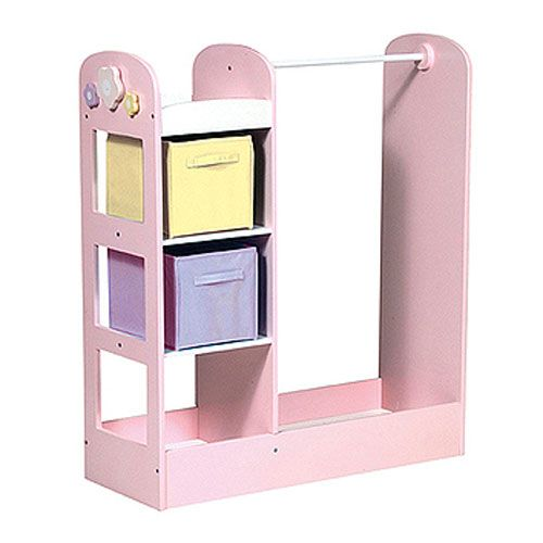 See And Store Dress Up Center In Pastel Clothing Armoire